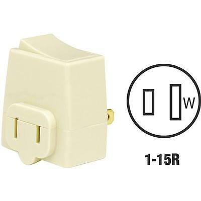 528 Pk Leviton Ivory 1-15R 2 Wire Plug-In Electric Switch Adapter C21-01469-00I