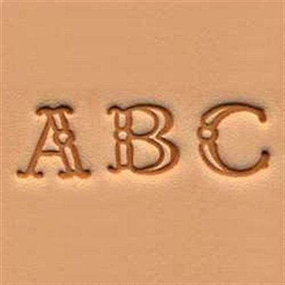 "Craftool Alphabet Stamp Set 3/8"" 1 cm Fancy Tandy Leather Item 4907-00 Free Shp"