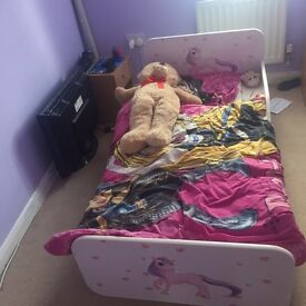 Girls bed with mattress