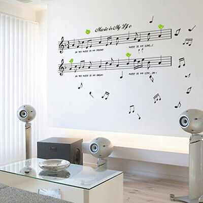 Black Music Note Removable Decal Home Room Decor Art Wall Sticker Wallpaper DIY - Music Note Decorations