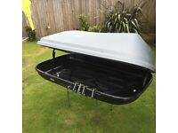 Large 480ltr roofbox good condition Halfords