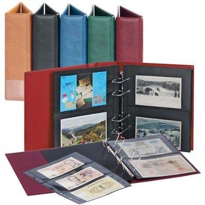 Lindner S1300PB - W Multi Collect Sammelalbum für Fotos/Postkarten/Banknoten mit