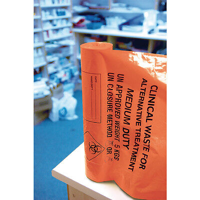 Clinical Waste Sack For Alternative Treatment Medium Duty 5kg Capacity Orange AT