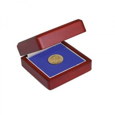Small Wood Display Case - Small Customizable Wood 1 Coin Case Up To 60mm Diameter Safe Storage Display Box