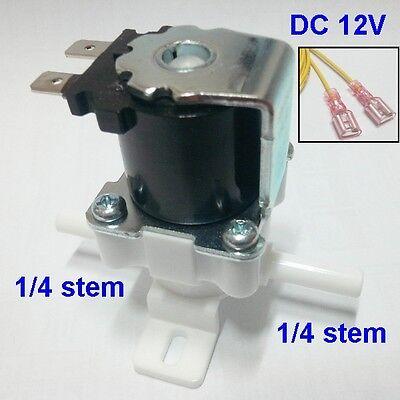 Water solenoid valve Flow control valve for high pressure DC 12V 1/4 stem