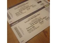 Europe Strongest Man Leeds Tickets X2