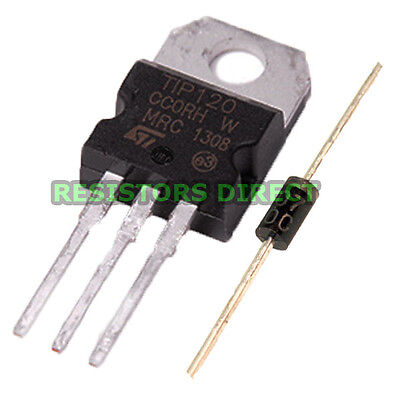 10pcs Tip120 Darlington Transistor To-220 Npn Bjt St For Arduino Free Diodes