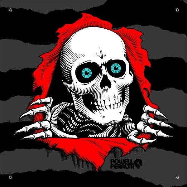 Powell Peralta Bones Brigade Skateboards RIPPER Vinyl BANNER PSBPPRP2 NEW