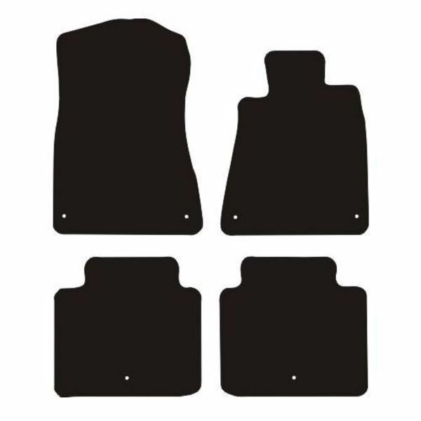Lexus Gs300 (2005 to 2011) Fully Tailored Black Rubber Car Floor Mats Set of 4
