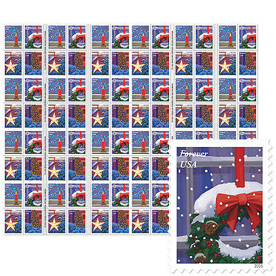 USPS New Holiday Windows Press Sheet with Die Cuts