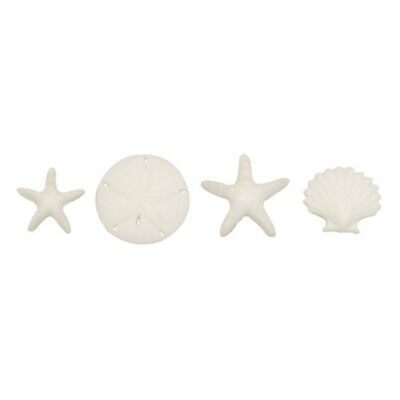 - Starfish, Sand Dollar, & Seashell Edible Sugar Cake & Cupcake Decorations - 12