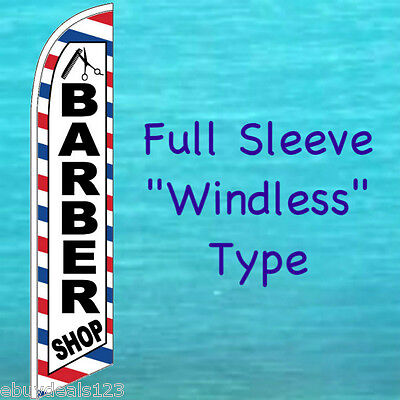 Barber Shop Windless Feather Flag Tall Advertising Sign Swooper Flutter Banner