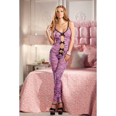 Footless Bodystocking (Zebra Print Footless And Crotchless Bodystocking - One)