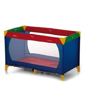 Childrens / Baby Hauck Dream'n Play Multi Coloured Travel Cot / Playpen BNWT Inc Folding Mattress