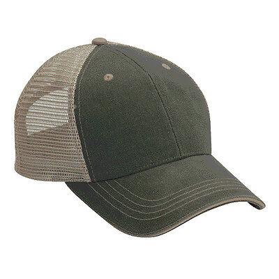 2 Dozen (24 ) Blank Trucker Hats Olive Green/Khaki Cotton /Mesh FAST SHIP!  Blank Trucker Hats