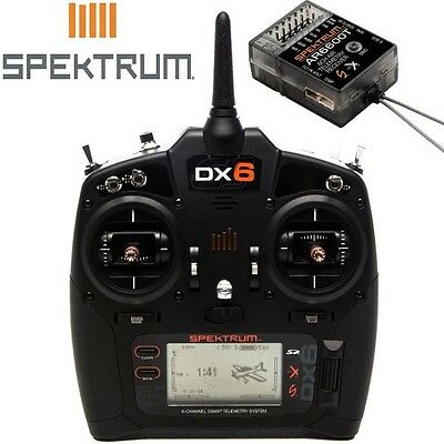 Spektrum Spm6755 Dx6 6 Channel Dsmx Radio Transmitter Gen 3 W Ar6600t Receiver