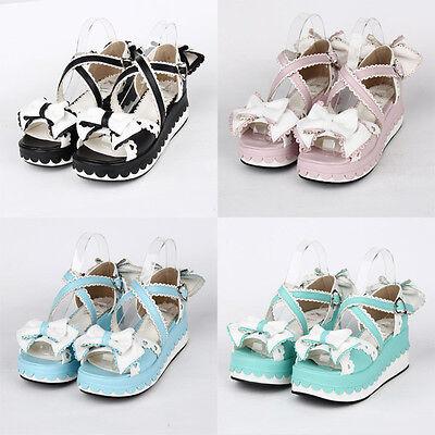Gothic Goth Sweet Lolita Schuhe Shoes sandals Sandalen Platform Cosplay - Kostüm Sandale