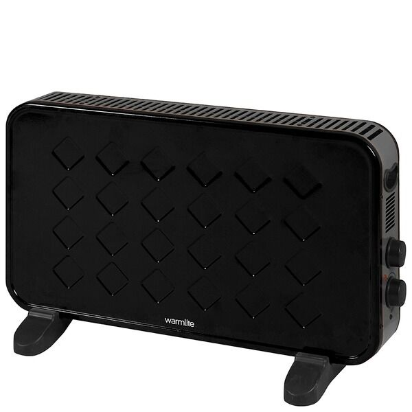 Warmlite Retro Convector Heater - Retro Portable 2KW WL41005 black