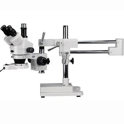 7X-90X Trinocular Stereo Boom Zoom Microscope + Fluorescent Light on Rummage
