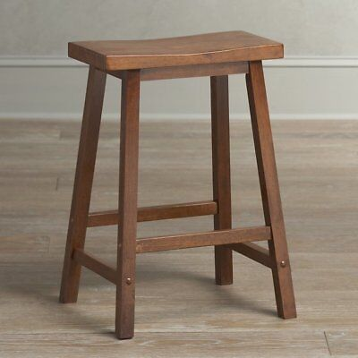 Birch Lane - Wood Bar stool - 24 inches - No back - Walnut Finish