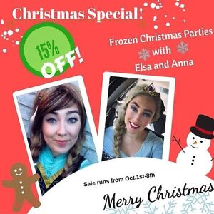 Christmas special Frozen's Elsa and Anna  Peterborough Peterborough Area image 1