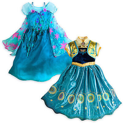 NEW Disney Store Frozen Fever Queen Elsa or Anna Princes Costume 7/8 9/10  - Queen Elsa Frozen Fever