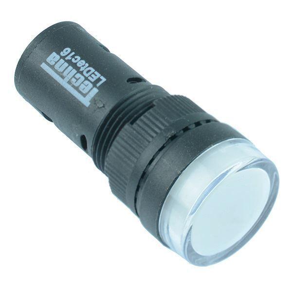 White 16mm LED Pilot Indicator Light 230V