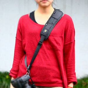 Quick DSLR Camera Single Shoulder Sling Belt Strap harness