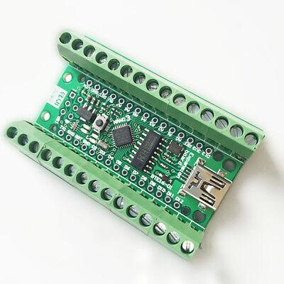 Arduino Nano V3.0 Atmega328P USB con morsettiera a vite CONNETTORI ADATTATORE
