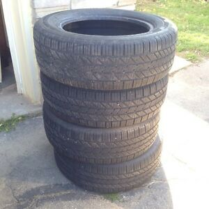 4 Hankook Optimo Winter Tires - 70% Tread Left-  P215/60R16 94V Kitchener / Waterloo Kitchener Area image 2