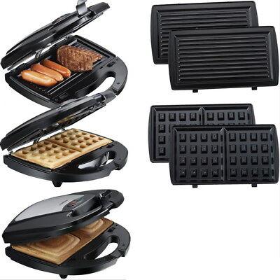3in1 Multigrill Sandwich-Toaster Waffeleisen Waffelautomat Grill Kontaktgrill