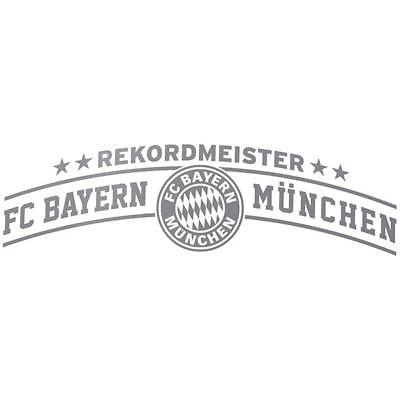 FC Bayern München Aufkleber Autoaufkleber FC Bayern München 73 x 21 silber