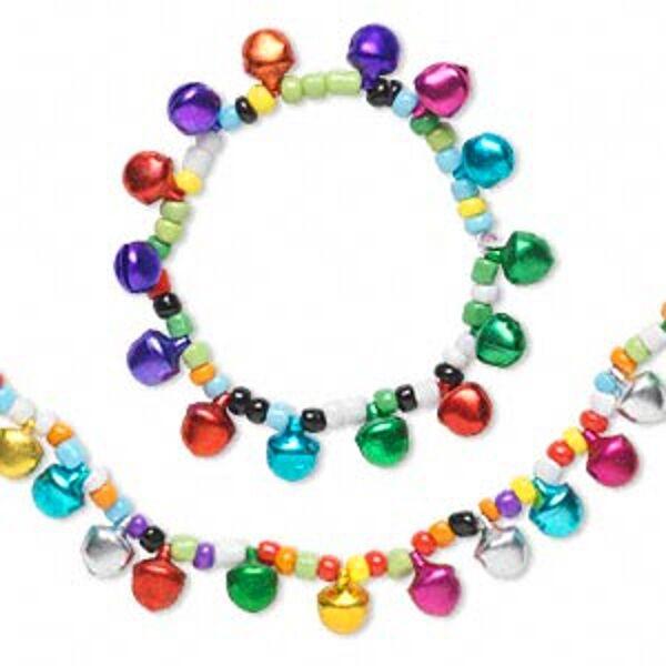 Jingle Bell Jewelry 3 Bracelets & 3 Necklaces Set of 6 pieces
