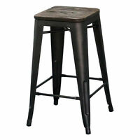 GUNMETAL COUNTER STOOL. INDUSTRIAL STYLE.