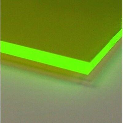 Green Fluorescent Acrylic Plexiglass Sheet 14 X 12 X 24 9093