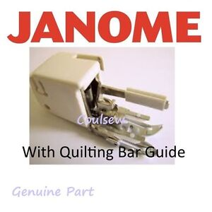 how to use janome walking foot guide