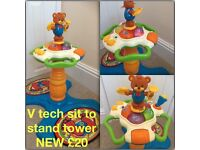 V tech sit to stand dancing tower NEW