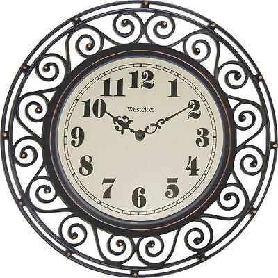 Westclox 32021 Wrought Iron Style Wall Clock