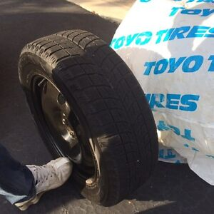 Four Winter tires and rims Kitchener / Waterloo Kitchener Area image 5