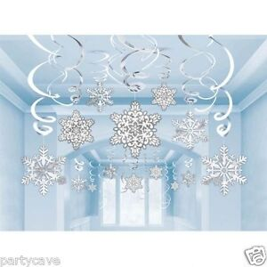 30-x-SNOWFLAKE-SWIRLS-CHRISTMAS-CEILING-HANGING-DECORATION-DISNEY-FROZEN-PARTY