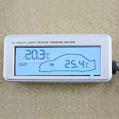 LCD Innen/Außen-Thermometer für Auto 12V/24V