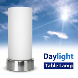 Energy Saving Daylight Chrome  Glass SAD Light Sunlight Therapy Table Lamp