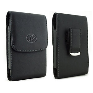 Black-Leather-Vertical-Belt-Clip-Case-Pouch-Cover-for-Samsung-RUGBY-2-II-A847