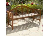 Hardwood Lutyens Garden Bench