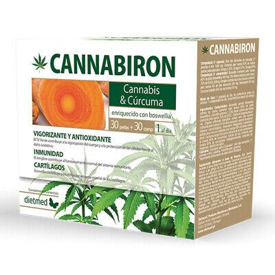 DIETMED - CANNABIRON, 30 perlas + 30 tabs - ACEITE DE CANNABIS...