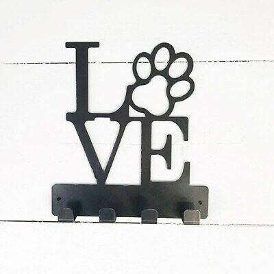 Love Dog Paw Wall Leash Holder Love Paw Leash