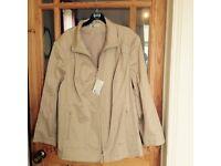 Beige light short jacket size 24.