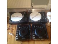 Technics 1210 mk 2 pair. Pioneer cdj 1000 pair