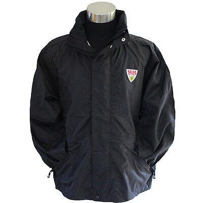 VfB Stuttgart Jacke Regenjacke mit Logo vom Verein schwarz S - XXL