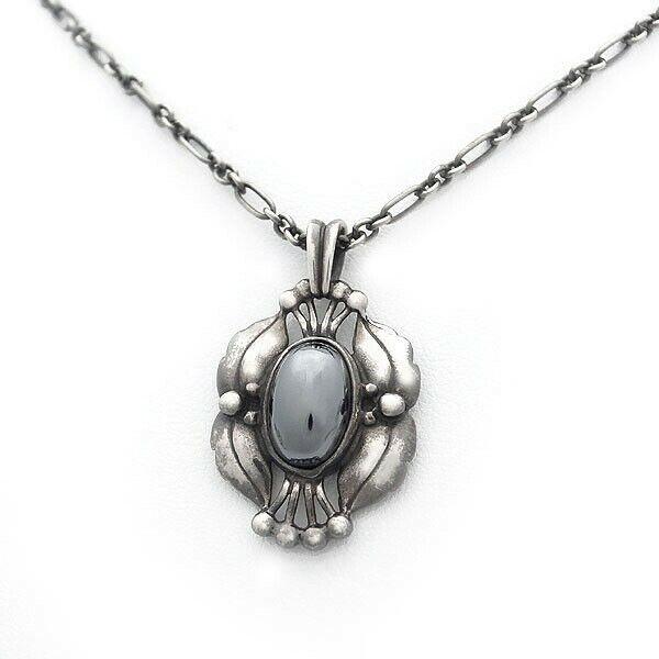 Georg Jensen Necklace Pendant 2000 Sterling Silver Denmark Jewelry #13656